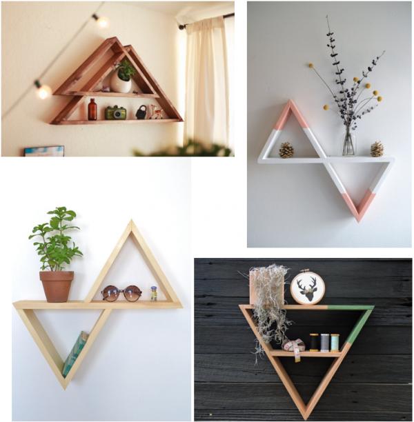 DIY étagère triangle