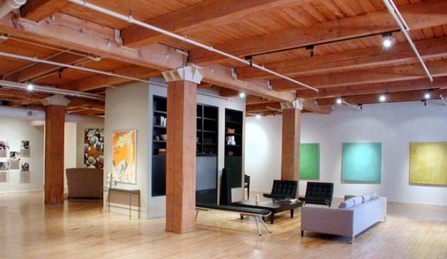 atelier loft bois charpente chicago