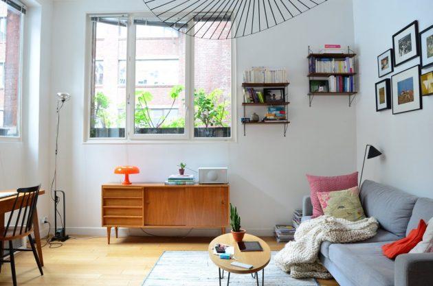 salon enfillade scandinave vintage 50s Loft parisien