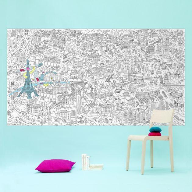 Papier peint à colorier poster géant