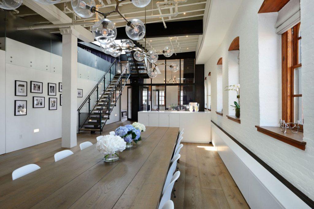 atelier loft noir et blanc decoration interieure