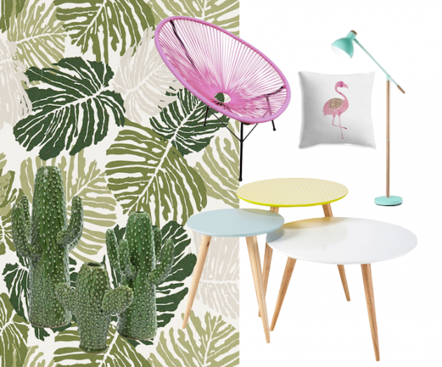 4MURS mur papier peint tropical jungle monstera