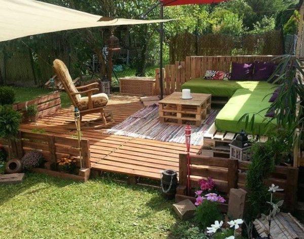 faire une terrasse en palette diy