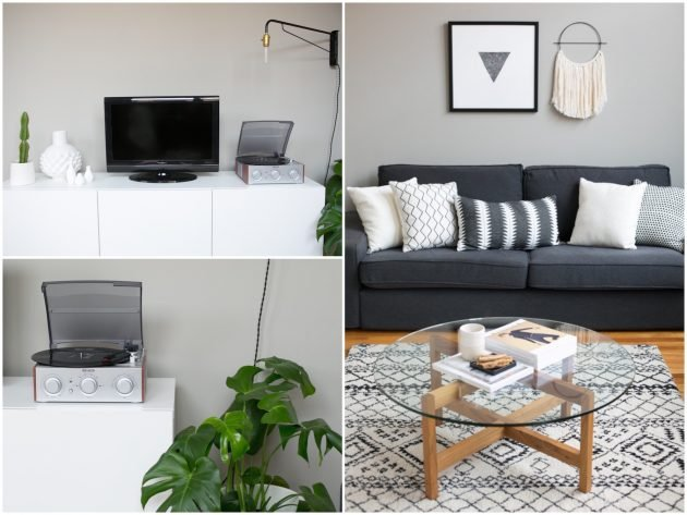 Salon Gris Et Blanc Blog Decoration D Interieur Clem Around The Corner