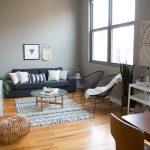 Appartement et salon noir et blanc visite décoration