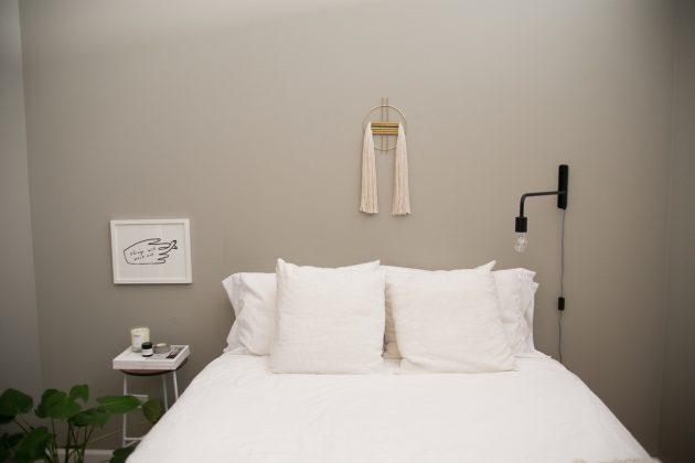 chambre et salon gris et blanc visite décoration