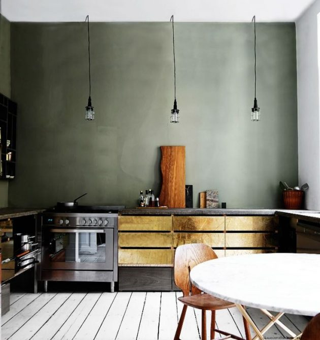 Tendance deco le gris vert blog deco clem around the for Deco cuisine vert