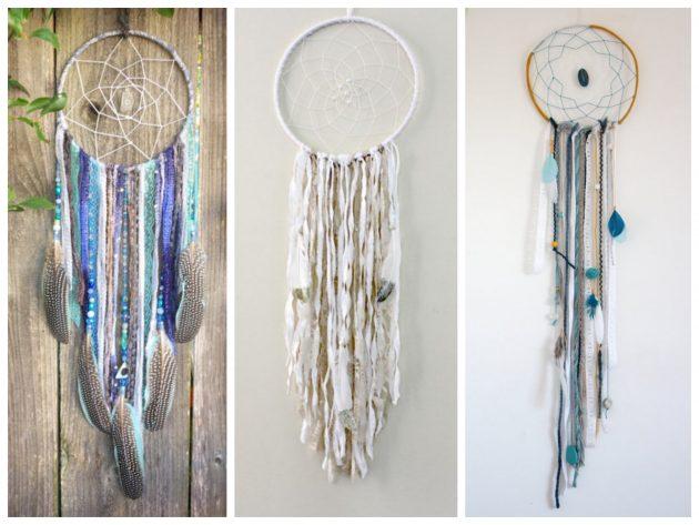 inspiration idée créer son propre attrappe reve avec des plumes dentelle - blog déco - clem around the corner