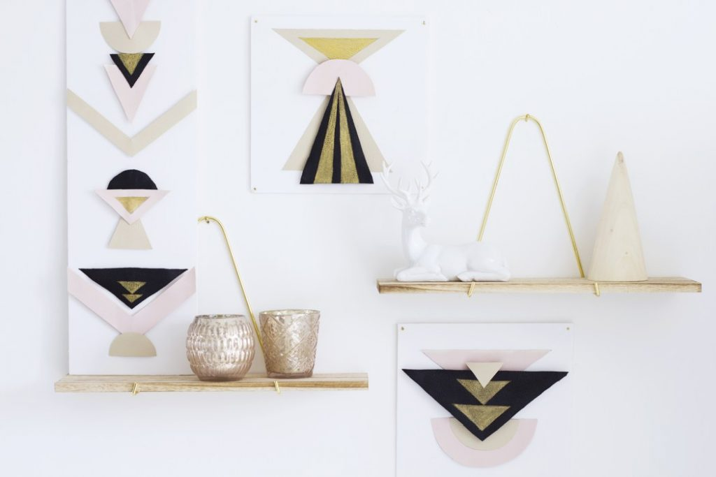 10 diy deco maison faciles blog deco clem around the for Decoration murale geometrique