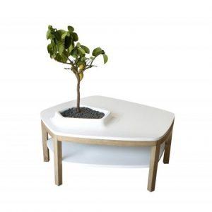 table avec pot de fleur intégré meuble végétal bellila blog déco clem around the corner