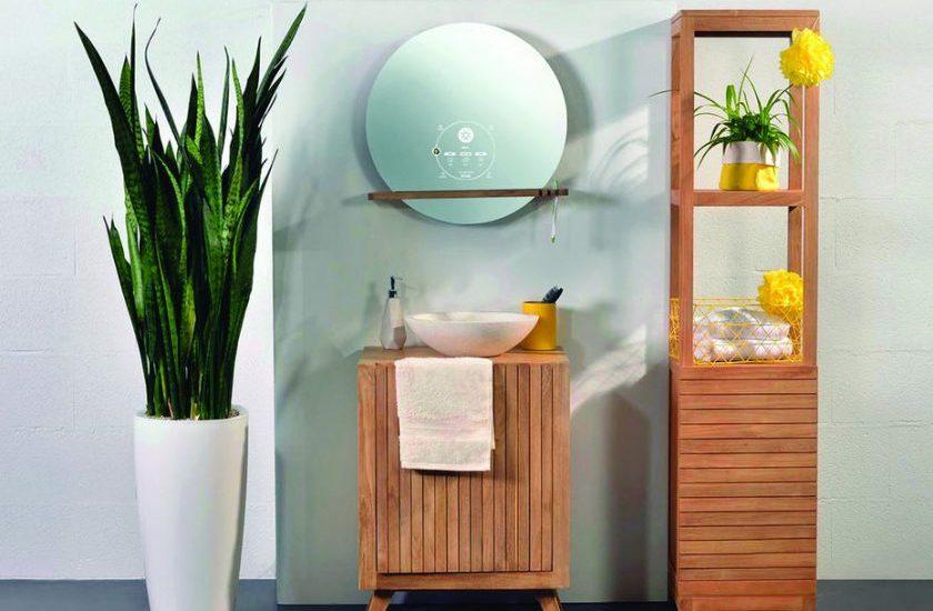 ecran miroir salle de bain domotique