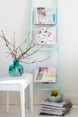 deco echelle decorative diy maison etagere
