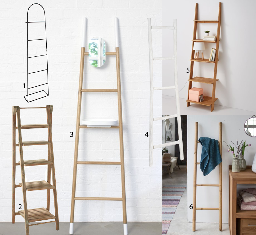 Deco echelle le it rangement blog deco clem around the corner - Etagere pas chere bois ...