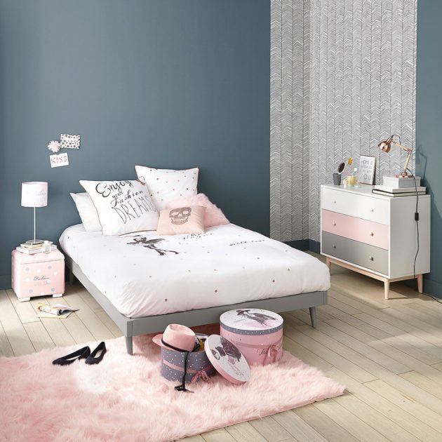 Id e d co chambre fille blog deco clem around the corner - Idee peinture chambre ado fille ...