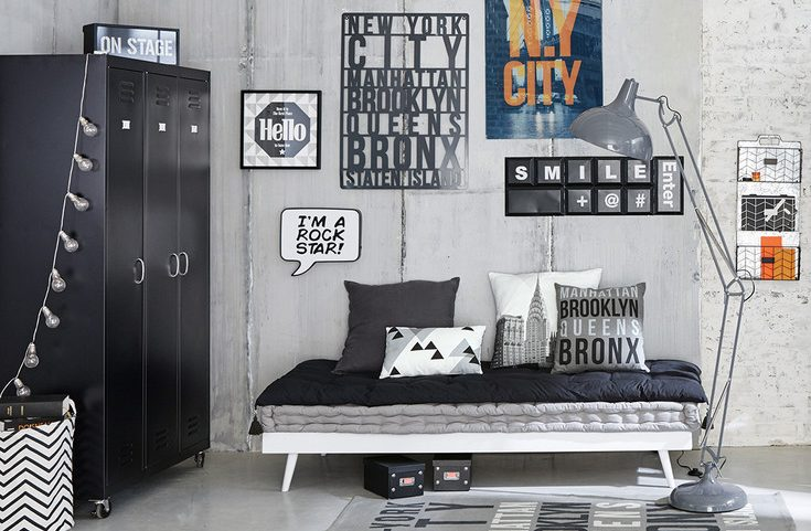 Id e d co chambre gar on blog deco clem around the corner - Chambre industriel deco ...