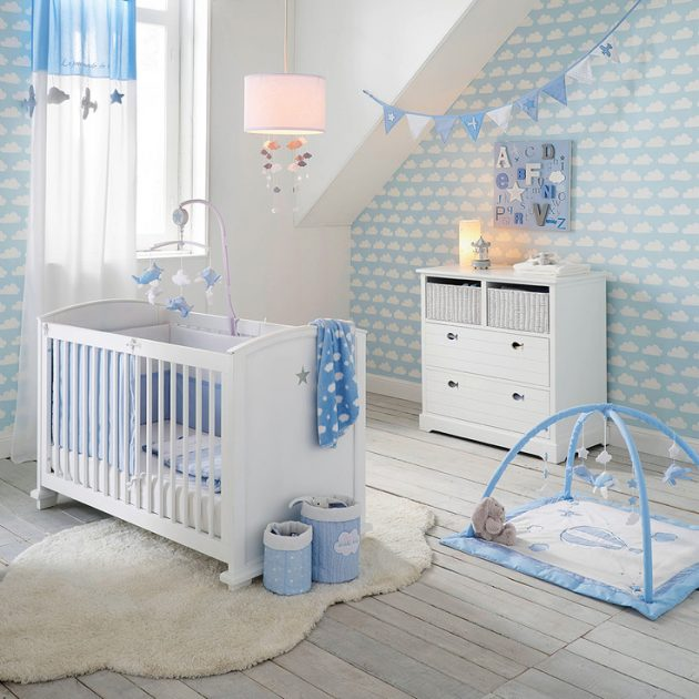 Id e d co chambre gar on blog deco clem around the corner - Chambre bebe garcon bleu gris ...