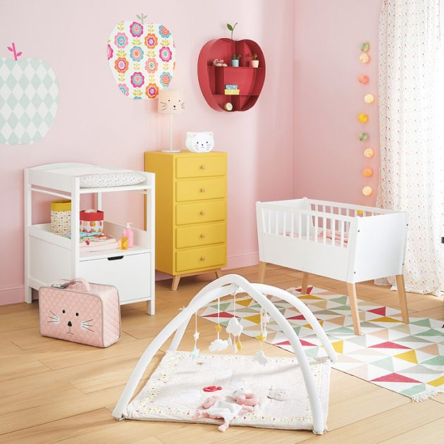 tapis de chambre bebe dalles tapis rond so cocoon pour la chambre des enfants tapis chambre. Black Bedroom Furniture Sets. Home Design Ideas