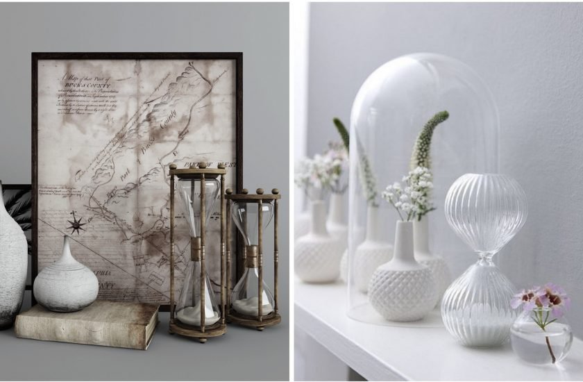 Le sablier dans la d co blog deco clem around the corner - Objet de decoration pour salon ...
