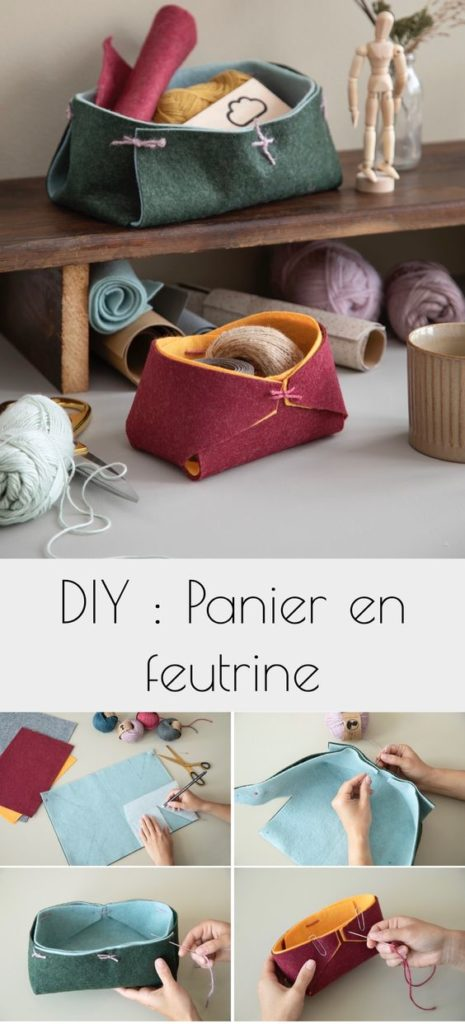 panier feutrine coloré à faire main - blog décoration - clem around the corner