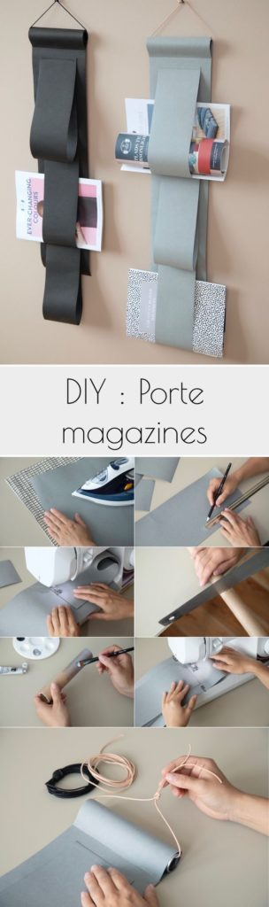 porte magazine en cuir à fabriquer soi-meme - blog décoration - clem around the corner