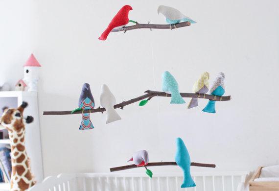 mobile enfants diy oiseau