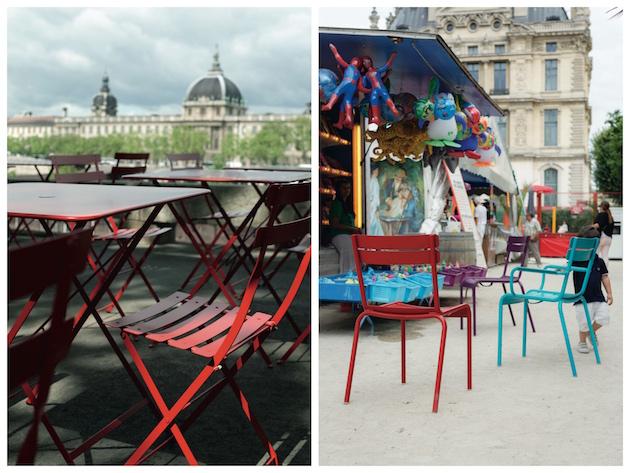 balcon parisien bien décoré et équipé Fermob