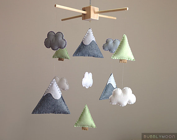 mobile enfants diy sapin