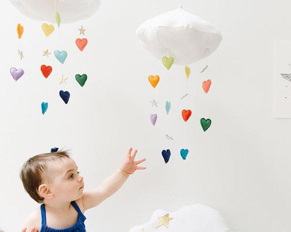 mobile enfants diy nuage