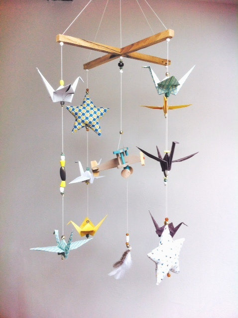 mobile enfants diy oiseau origami
