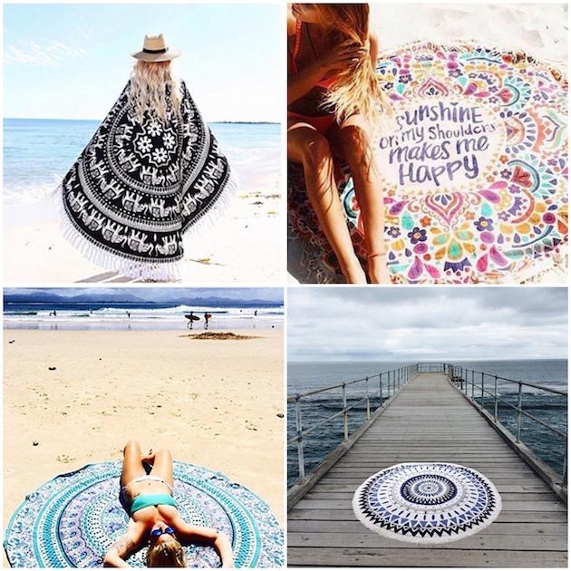 serviette de plage amazon ronde
