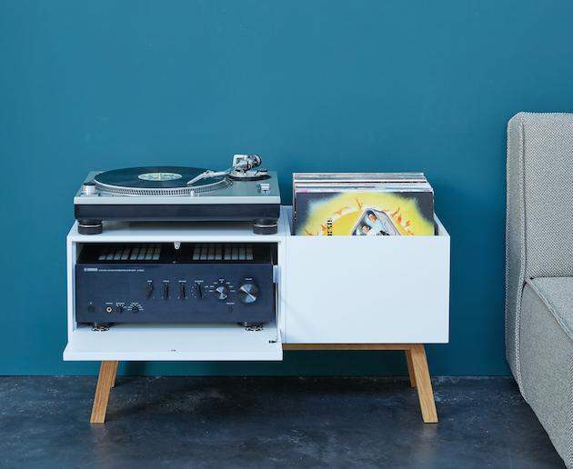 comment créer facilement meuble pour platine vinyle - blog déco - clem around the corner
