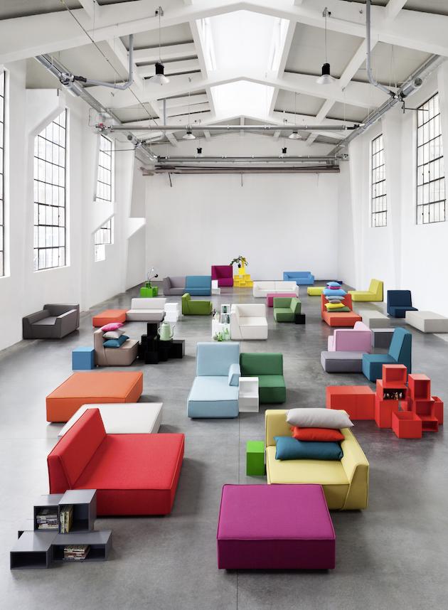 Cubit meuble modulable de Mymito modulable multicolore composition