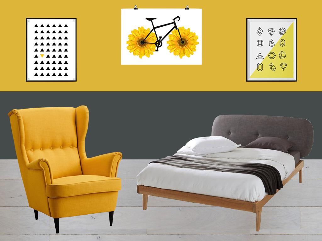 Deco Chambre Jaune Et Gris chambre jaune et gris : idées et inspiration déco - clem