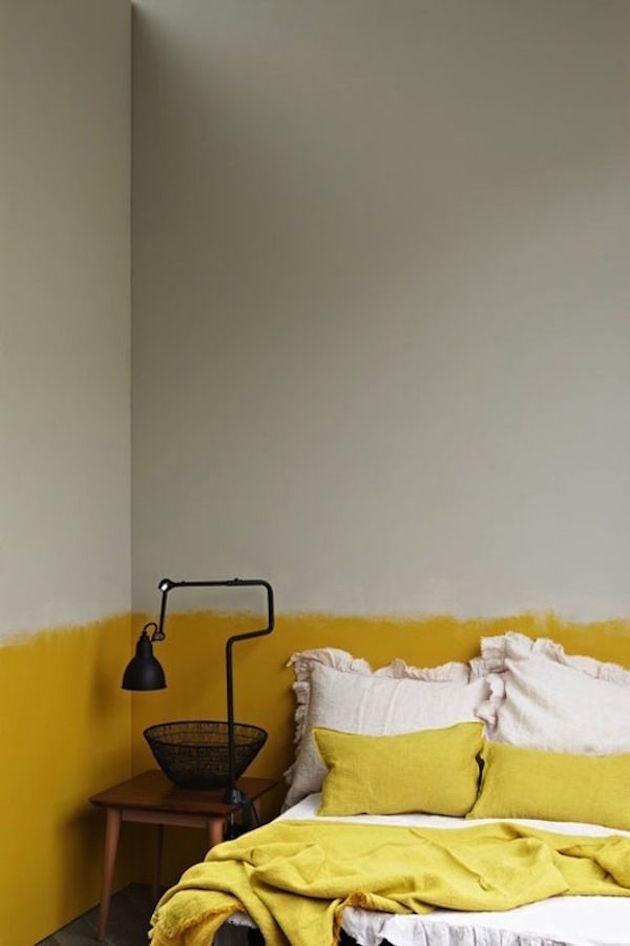 chambre jaune et gris idee deco