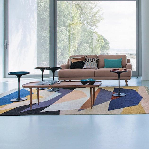 tapis graphique berbere deco salon