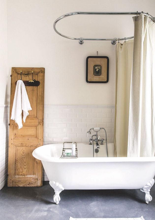 baignoire en fonte de style retro