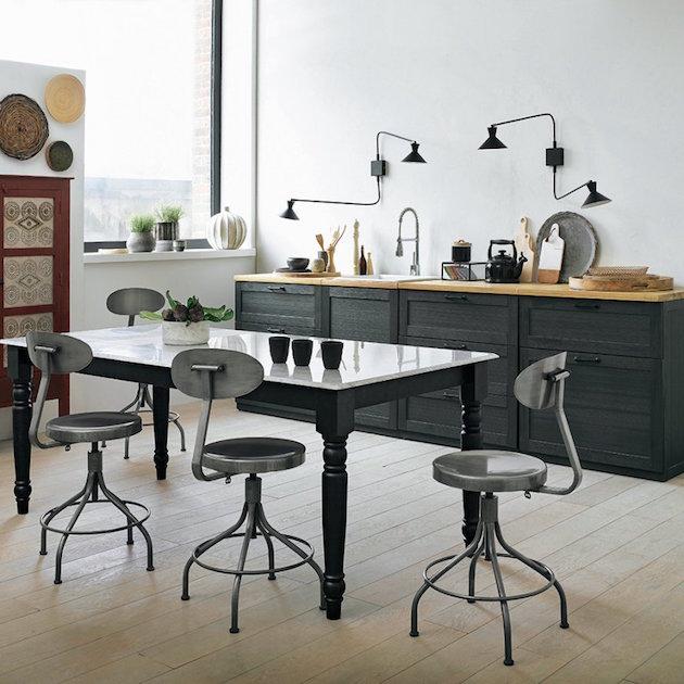 am pm chaise metal cuisine industrielle