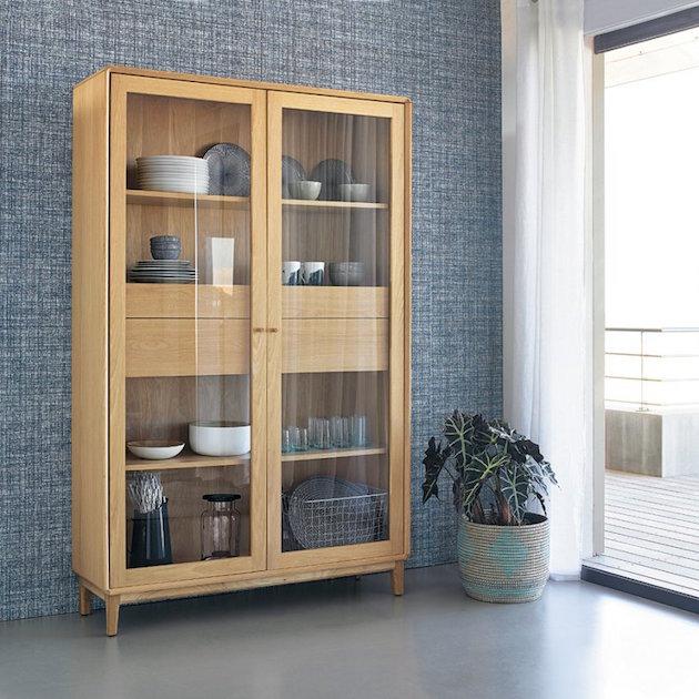 vaisselier vitrine bois decoration