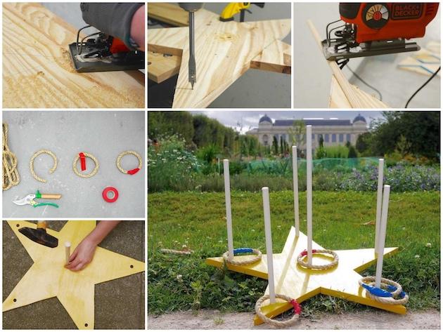 Fabriquer un jeu de lancer d'anneaux en bois DIY