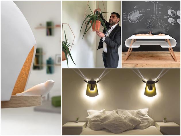 compagnie design francais lampe applique cerf