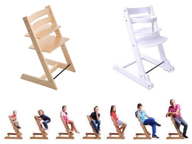 Chaise évolutive pour enfant ado en bois design pas cher