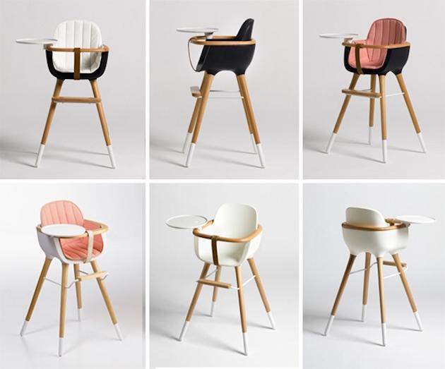 Chaise haute originale bébé design scandinave test