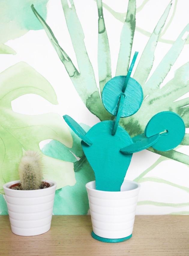 Cactus dessous de verre DIY clematc