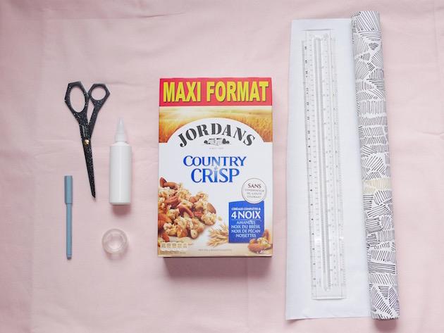 Semaine du papier peint DIY organiseur de bureau