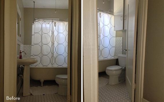 avant salle de bain vieillotte renovation