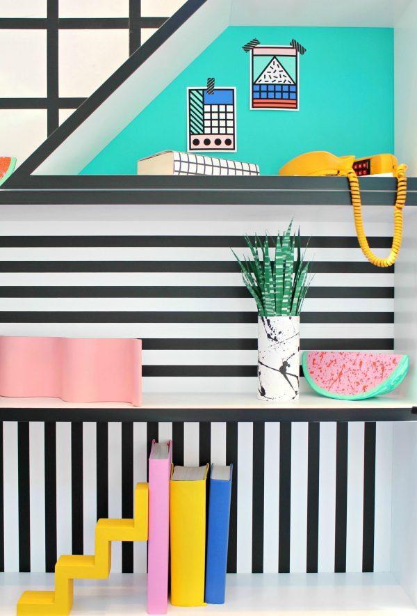 decoration couleur style memphis design