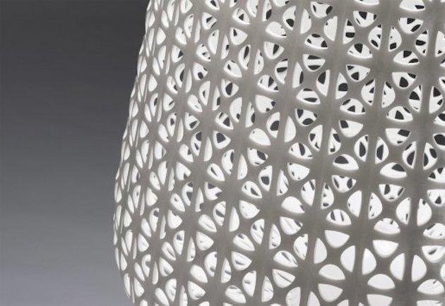 abat jour plastique imprimante 3d facon cannage moderne