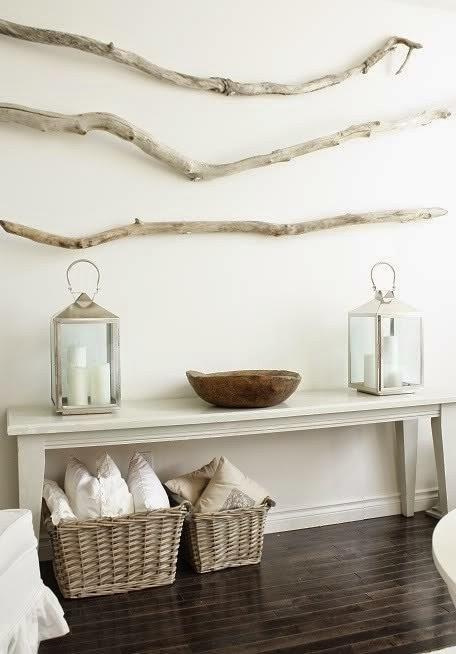 diy bois flotté décoration entré maison