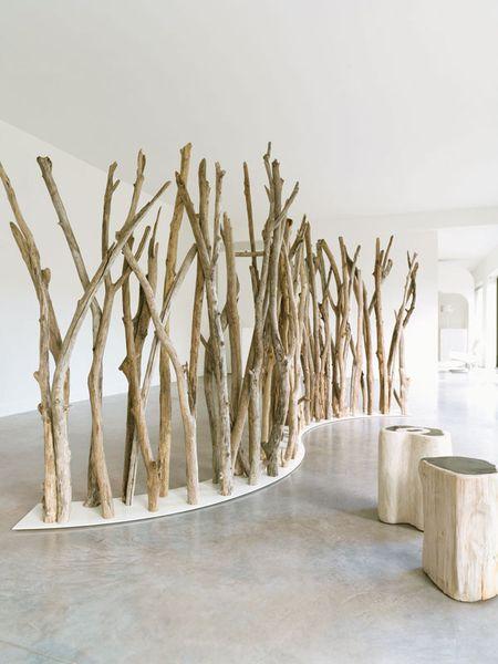 diy bois flotté décoration séparation piece