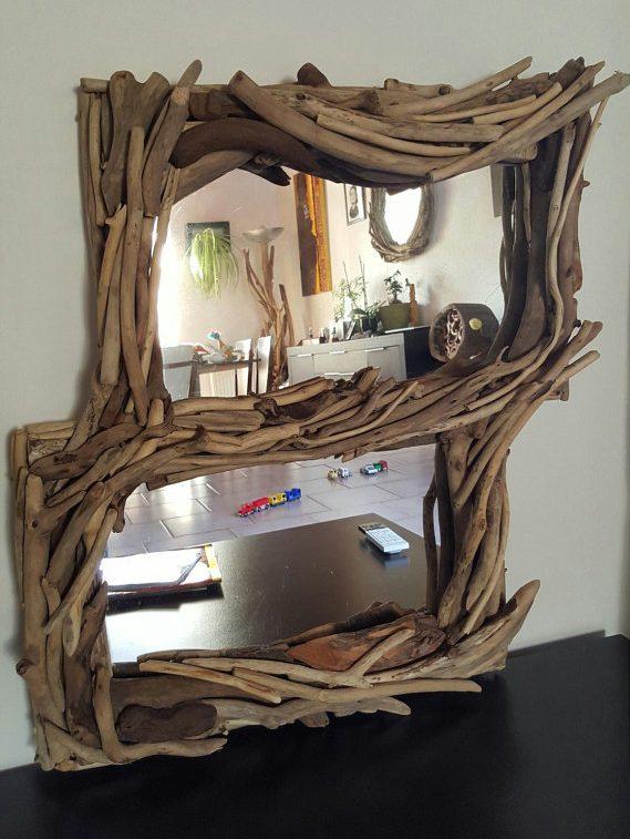 diy bois flotté miroir